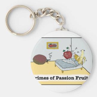 Crimes of Passion Fruit Zazzle Basic Round Button Keychain