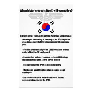 Crimes under South Korean National Security Act Flyer