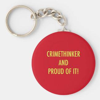 crimethinker and proud of it basic round button keychain