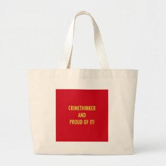 crimethinker and proud of it jumbo tote bag