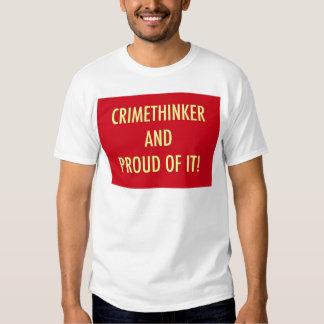 crimethinker and proud of it tee shirt