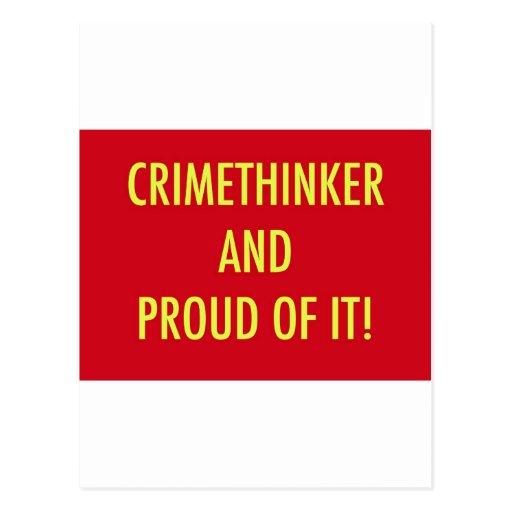 crimethinker y orgulloso de él tarjeta postal