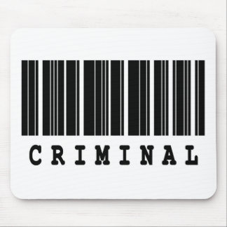 criminal barcode designl mouse pad
