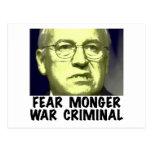Criminal de guerra de Cheney Tarjetas Postales