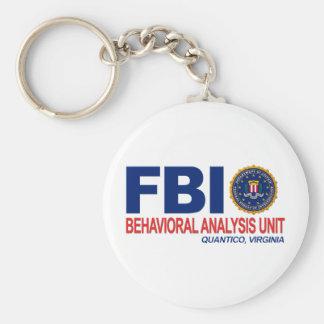 Criminal del FBI BAU Llavero Redondo Tipo Pin