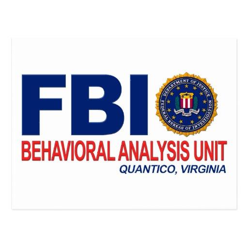 Criminal del FBI BAU Tarjeta Postal