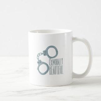 Criminal hermoso taza de café