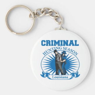Criminal Hunting Season Louisiana Police Keychain