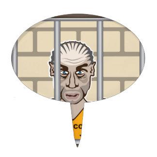 Criminal in Jail Cake Topper
