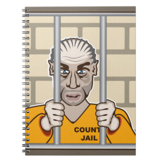 Criminal in Jail Notebook