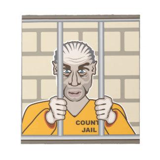Criminal in Jail Notepad