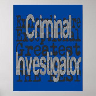 Criminal Investigator Extraordinaire Poster
