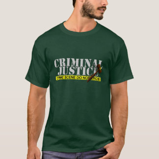 "Criminal Justice ""Crime Scene Do Not Cross"" T-Shirt"