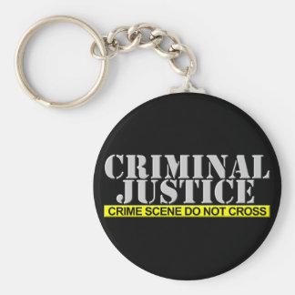 Criminal Justice (Customizable) Keychain