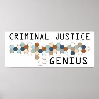 Criminal Justice Genius Poster