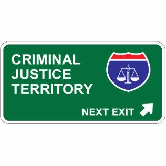 Criminal Justice Next Exit Photo Cutout