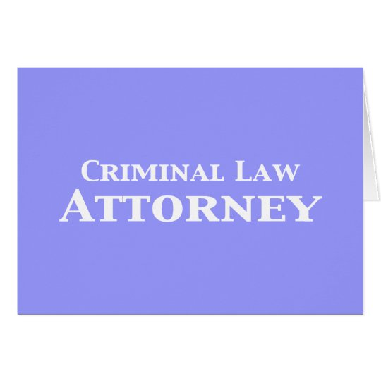 Criminal Law Attorney Gifts Card