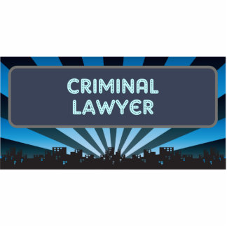 Criminal Lawyer Marquee Photo Sculpture