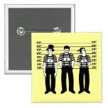 Criminal Mimes 2 Inch Square Button