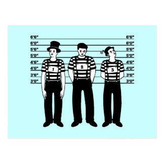 Criminal Mimes Postcard