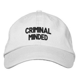 criminal minded Adjustable Hat Embroidered Baseball Caps