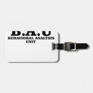 Criminal Minds BAU Behavioral Analysis Unit Shirts Bag Tag