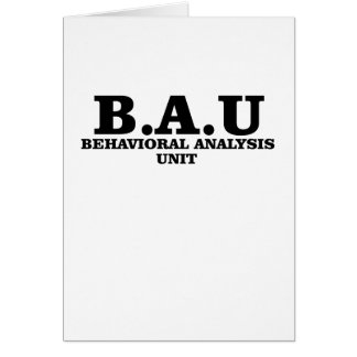 Criminal Minds BAU Behavioral Analysis Unit Shirts Card