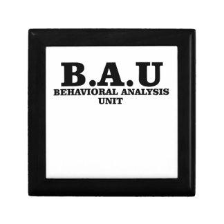 Criminal Minds BAU Behavioral Analysis Unit Shirts Jewelry Box