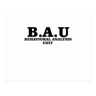 Criminal Minds BAU Behavioral Analysis Unit Shirts Postcard