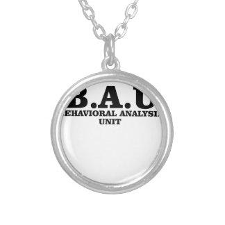 Criminal Minds BAU Behavioral Analysis Unit Shirts Silver Plated Necklace