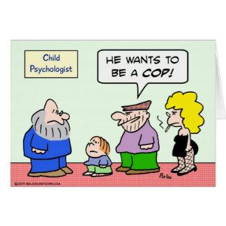criminales de la policía del poli del psicólogo de tarjeta de felicitación