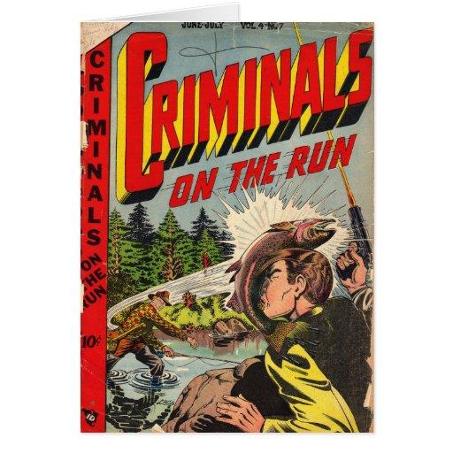 Criminales en la tarjeta de nota del funcionamient