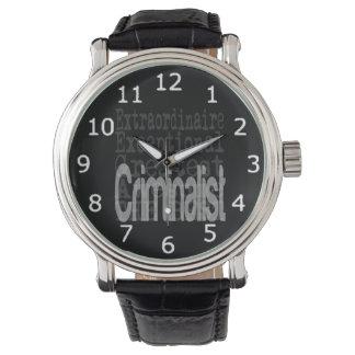Criminalist Extraordinaire Wristwatch