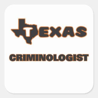 Criminalista de Tejas Pegatina Cuadrada