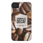 Criminalize Decaf Office Humor iPhone 4/4S Case