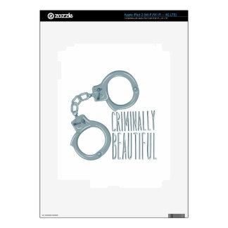 Criminally Beautiful Decal For iPad 3