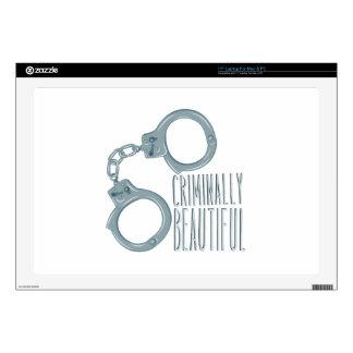 Criminally Beautiful Laptop Skin