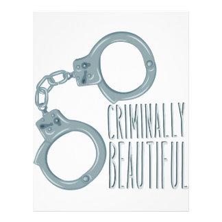 Criminally Beautiful Letterhead