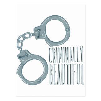 Criminally Beautiful Postcard
