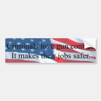 CRIMINALS LOVE GUN CONTROL BUMPER STICKERS
