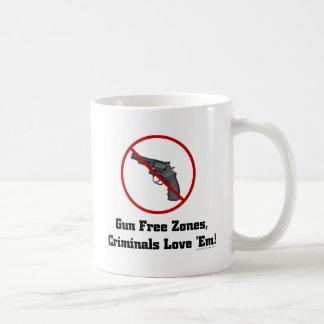 Criminals Love Gun Free Zones Coffee Mug