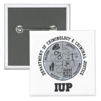Criminología de IUP y Pin de la justicia Pin Cuadrada 5 Cm