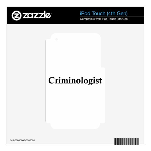 Criminologist Skins For iPod Touch 4G