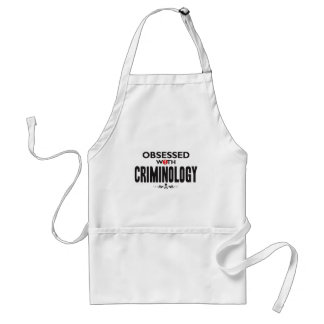 Criminology Obsessed Adult Apron