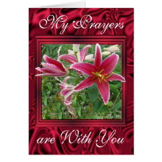 Crimmson Lilies- customize any occasion Greeting Card