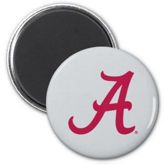Crimson Alabama A 2 Inch Round Magnet