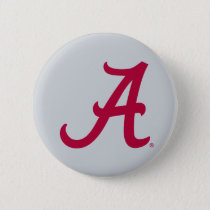 Crimson Alabama A Button
