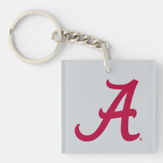 Crimson Alabama A Keychain