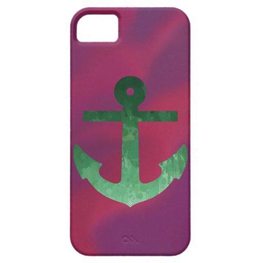 Crimson Anchor Greens iPhone 5 Cases