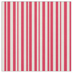 [ Thumbnail: Crimson and Beige Lined/Striped Pattern Fabric ]